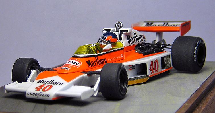 Racing Dioramics 1/43 1977 McLaren M23 with Gilles Villeneuve
