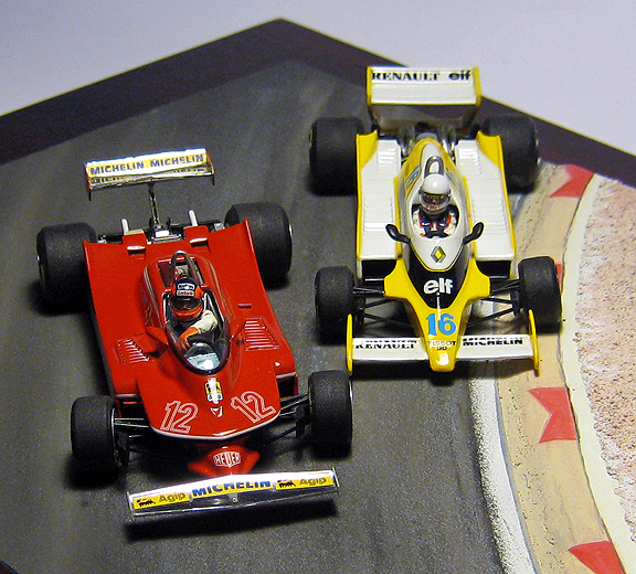 1 43 Scale 1979 Ferrari 312t4 And Renault Rs11 At Dijon