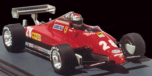 Formula 1 Ferrari 126 C2 1982 Mario Andretti Die cast model car 1//43